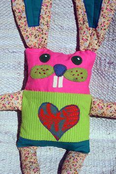 SZOKA DESIGN, rabbit, Easter, handmade, textile, toy, kids