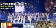Miss Supranational 2015 – Live Streaming Coverage Pageants, Infographics, Live, Infographic, Info Graphics, Visual Schedules