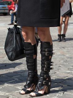 Fall 2013 Couture Week Street Style: Layla, wearing Laurence Decade sandals