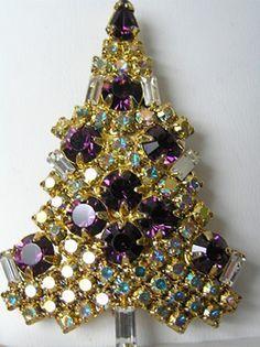 Eisenberg Ice Christmas Tree Brooch - Bing Images