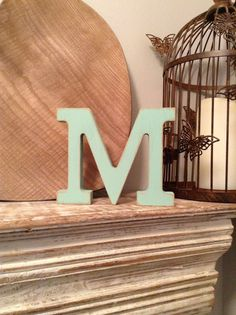 Freestanding Wooden Letter Ampersand 'M'  20cm  by LoveLettersMe