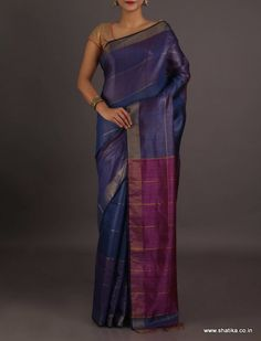 Kuldeep Plain With Contrast Pallu #BhagalpuriSilkSaree