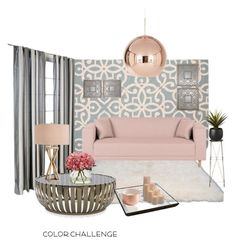 """colorchallenge"" by metka-belina ❤ liked on Polyvore featuring interior, interiors, interior design, home, home decor, interior decorating, nuLOOM, Home Decorators Collection, Mitchell Gold + Bob Williams and Catalina"