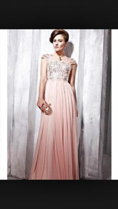 Bridesmaid dress pink and silver