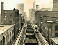 Elevated Streetcar on Guilford Ave.
