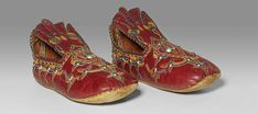British Museum - Life and soleEmbroidered bridal slippers made of leather and silk. Ghadamis, Libya, 1960s–1970s.