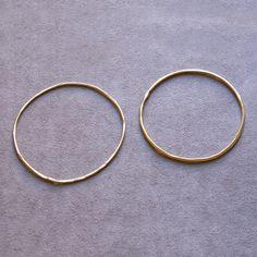 thin brass bangles   K. Hansen Jewelry