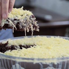 Chocolate cake how it was meant to be eaten — with a creamy, coconutty topping.