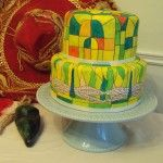 Stained Glass Tiffany Lamp Cake