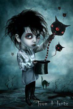 ' Wizard of cat balloons ' by Toon Hertz