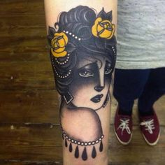 "thievinggenius: "" Tattoo done by Danielle Rose. Pin Up Tattoos, Baby Tattoos, Tattoo You, New Tattoos, Tatoos, Traditional Ink, Neo Traditional Tattoo, Desenhos Old School, Piercings"