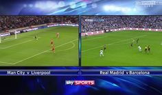 Sky are offering a split screen option for the El Clásico and Manchester City v Liverpool games tomorrow. by thesportbible
