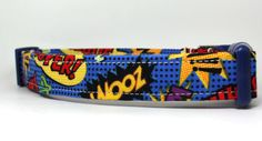 The Superhero Adjustable Dog Collar by 4BlackPaws on Etsy, $17.50