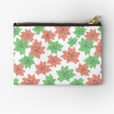 'Echeveria in pink and green ' Zipper Pouch by Amanda D-Hay Echeveria, Iphone Wallet, Zipper Pouch, Pink And Green, Zip Around Wallet, Coin Purse, My Arts, Art Prints, Printed