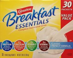 Carnation+Breakfast+Essentials+Complete+Nutritional+Drink,+French+Vanilla+30+Pack,+2.38+Pound+Total