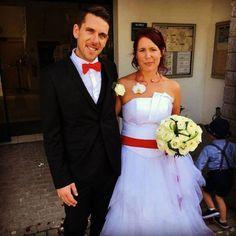 Robe de mariée bustier mouchoirs d'organza, Céline