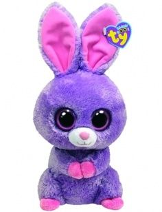 Ty Beanie Boos Buddies Petunia Purple Bunny in Animals   Figures. 9edcdb2a8354