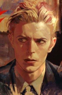 Ziggy Played Guitar, David Bowie Art, David Bowie 2016, David Bowie Labyrinth, Traditional Art, Art Techniques, Portrait Art, Ziggy Stardust, David Jones