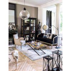 Mesa baja de madera de mango y metal An. 120cm Hippolyte | Maisons du Monde