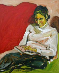 Retrato de leitora Martine Pinsolle (França, 1944) óleo sobre tela, 100 x 81cm Coleção Particular