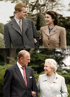 Even royal couples can be sweet ones...Such a long time together!