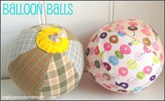 Balloon Balls a fabulous scrap buster and fun party favor or stocking stuffer