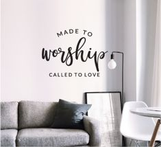 Wall art to decorate any room in your house and give it a warm loving touch Touch Love, Christian Wall Art, Adhesive Vinyl, Wall Stickers, Worship, How To Apply, Warm, House, Inspiration