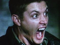 Dean - supernatural Photo best on screen scared face ever !!!!!!!!