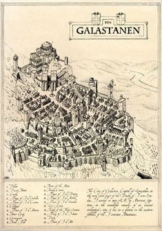 The City of Glastan - By Blaidd Drwg, Cartographer's Guild.