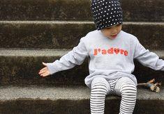 J'adore means I adore in French. Kids Boys, Baby Kids, Modern Kids, Stylish Kids, Kid Styles, Kids Wear, Boy Fashion, Baby Shop, Kids Outfits