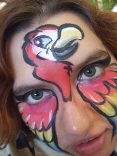 Parrot Face Paint by ~BananaFairy59 on deviantART