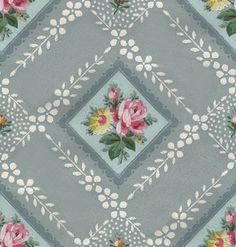 Wings of Whimsy: Vintage Blue Wallpaper Tile - free for personal use #vintage #edwardian #victorian