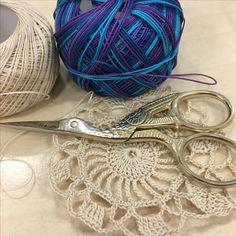 This is probably my favourite variegated coloured thread from Lizbeth that I've used. It's going to look amazing in this pattern 💕   #crochet #crochetart #doily #original #hookinthread #threadcrochet #folkart #lovecrochet #unique #craftlife #art #crochetaddict #handmade #instacrochet #craft #ganchillo #croche #thread #yarn #trapillo  #virka #homedecor #art #crochetlove #vintage #cotton #かぎ針編み #钩边 #etsyshop #etsy