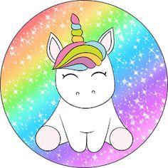 Fiestas Personalizadas Imprimibles: Topper de Unicornios para descargar Gratis