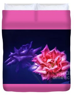 """Two Roses Queen (88"""" x 88"""") Duvet Cover"""
