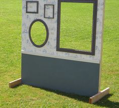 Another DIY Photo Booth Idea ~ I absolutely <3 the 2 frames & it looks easy to put together! :)