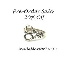 Scissor Ring Pre-Order Sale Adjustable Small by BellaMantra