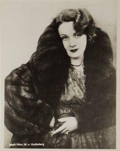 Portrait of Marlene Dietrich by Baron Wolff von Gudenberg, 1929