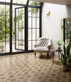 Ceramica Sant'Agostino, pavimenti decorativi in gres porcellanato. White Armchair, Italian Tiles, Terrace Design, Wall And Floor Tiles, Terrace Garden, Simple Style, Marble, Flooring, Classic