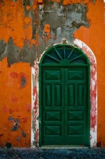 Front door of a house on the island of Ponza Italy  x