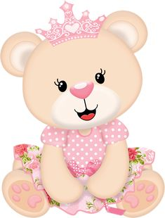 Now available Cute Baby Girl Princess Bear Baby Shower Edible Cake Topper Image Baby Shawer, Baby Kit, Cute Baby Girl, Cute Babies, Baby Girl Princess, Baby Shower Princess, Dibujos Baby Shower, Moldes Para Baby Shower, Royal Baby Showers