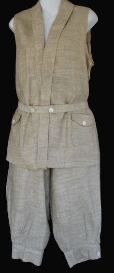 1920s linen knicker suit | The Vintage Traveler  http://thevintagetraveler.wordpress.com/2009/09/27/hiking-weather-and-what-to-wear/