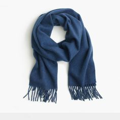 J.Crew Gift Guide: men's cashmere scarf.