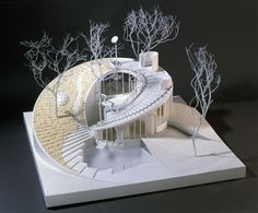 'House for the Third Millennium' by Ushida Finlay - Houses interior designs Maquette Architecture, Architecture Design, Concept Models Architecture, Architecture Model Making, British Architecture, Organic Architecture, Landscape Architecture, Architecture Organique, Architectural Presentation