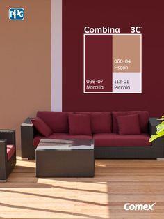 Colores que combinan con el burdeos en paredes y decoración Living Room Red, Paint Colors For Living Room, Paint Colors For Home, Room Paint, Bedroom Colors, House Colors, Living Room Decor, Bedroom Decor, Interior Wall Colors