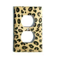 Jungle Leopard Print Decorative Outlet Cover