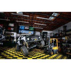 Rockstar Garage Ford Bronco - RIbtrax Modular Garage Flooring by Swisstrax. Click to see more Swisstrax installations.