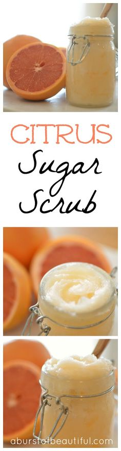 A Burst of Beautiful: Coconut Citrus Body Scrub
