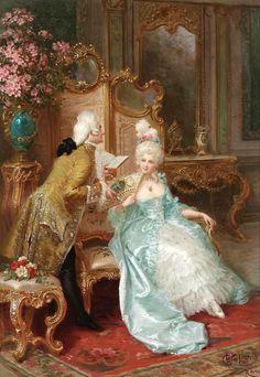 """Connor-L'art du 19ièm siècle- J'ai choisi cette image parce qu'elle réprésente l'art et le style du 19ièm siècle, c'est à propos le temps dont le livre c'est passé. Aussi les personnages dans le livre portent la même sorte de vêtements comparer au personnes dans l'image. Dans le livre il dit: """"Nous sommes en 1815. Un magnifique voilier venant de Naples, le Pharaon, vient d'accoster au port de Marseille."""" (p.9)"""