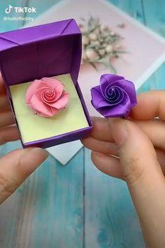 Paper Flowers Craft, Paper Flowers Wedding, Easy Paper Crafts, Paper Crafts Origami, Flower Crafts, Diy Paper, Paper Crafting, Origami Flowers, Diy Flowers